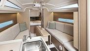 Sunsail Oceanis 30.1 living room